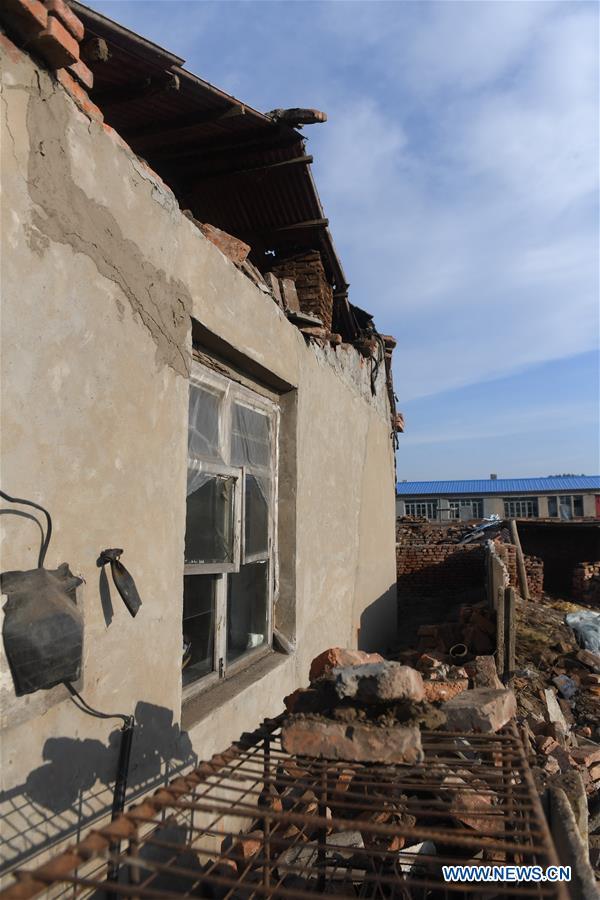 Jilin tremblor wrecks 1,500 homes
