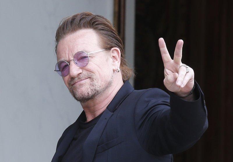 File photo shows U2 lead singer Bono. (AP photo)