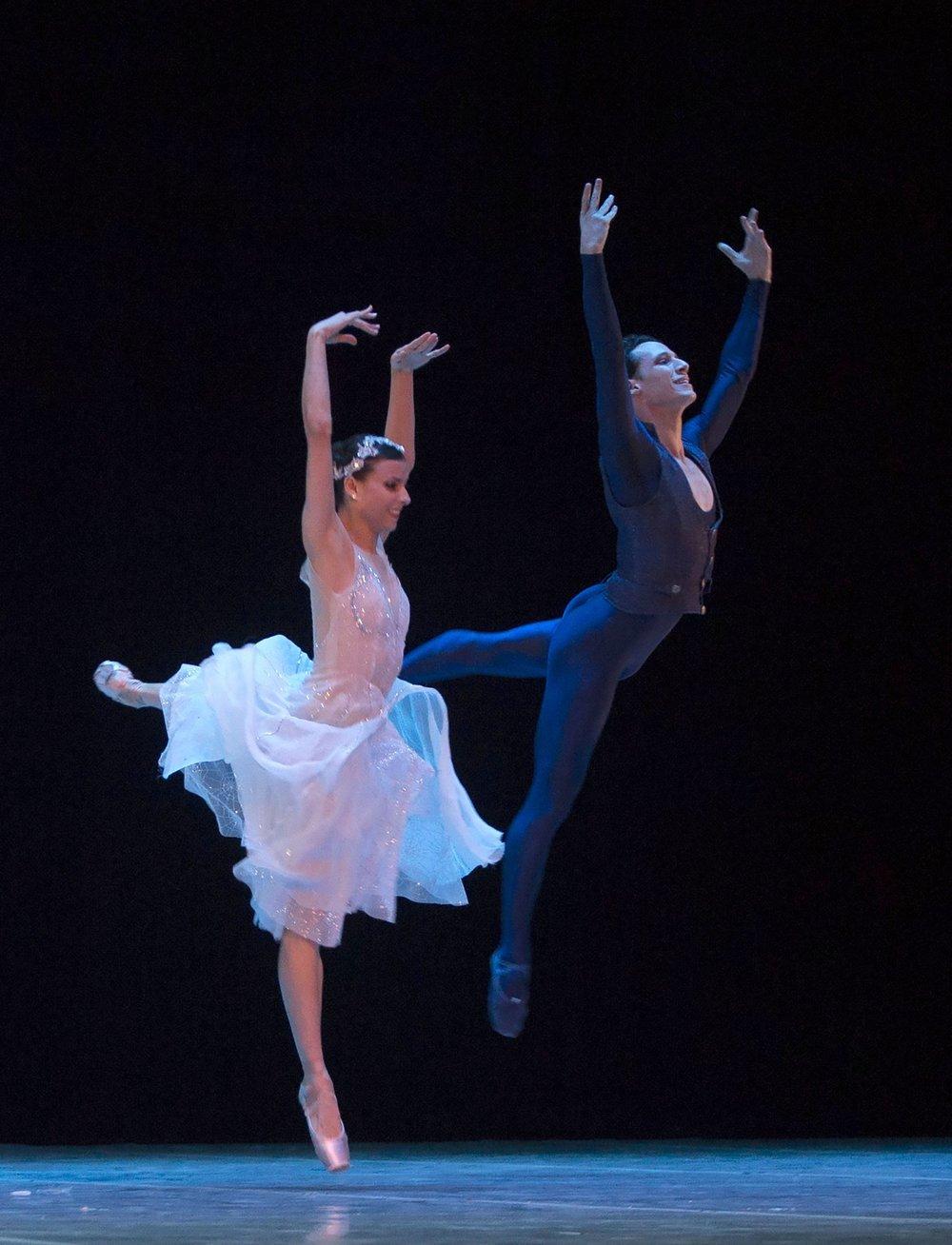 Cuban expatriate ballet dancers Yanela Pinera, left, and Camilo Ramos, currently working at the Queensland Ballet in Australia, perform in Havana, Cuba.