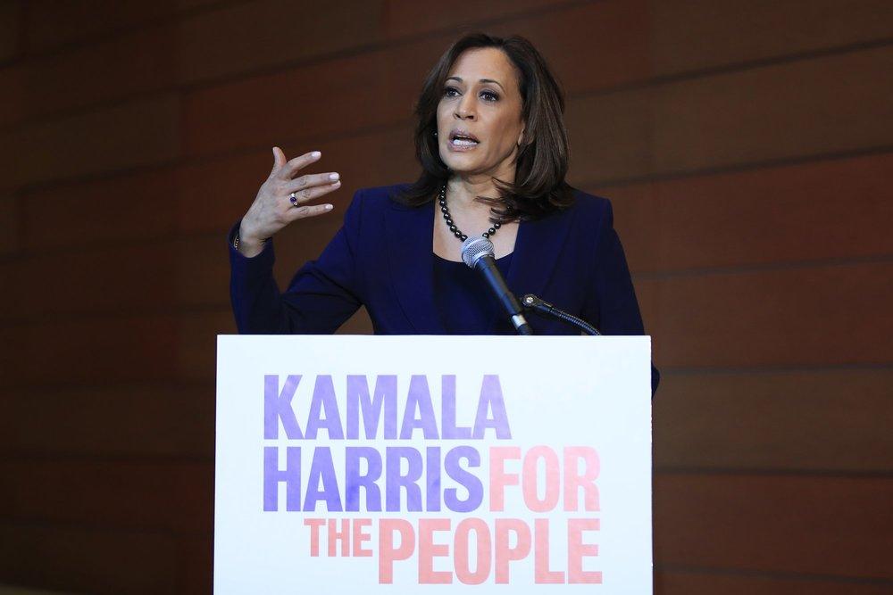 African-American Kamala Harris declares presidential bid