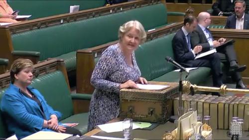Parliamentlive.tv screen capture shows British Labour Party lawmaker, Helen Goodman, middle.