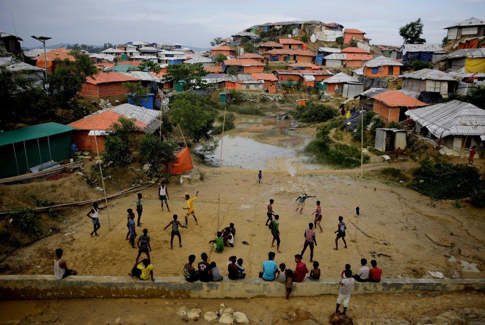 Rohingya Muslim refugees at Balukhali Refugee Camp in Bangladesh, seen in August 2018.
