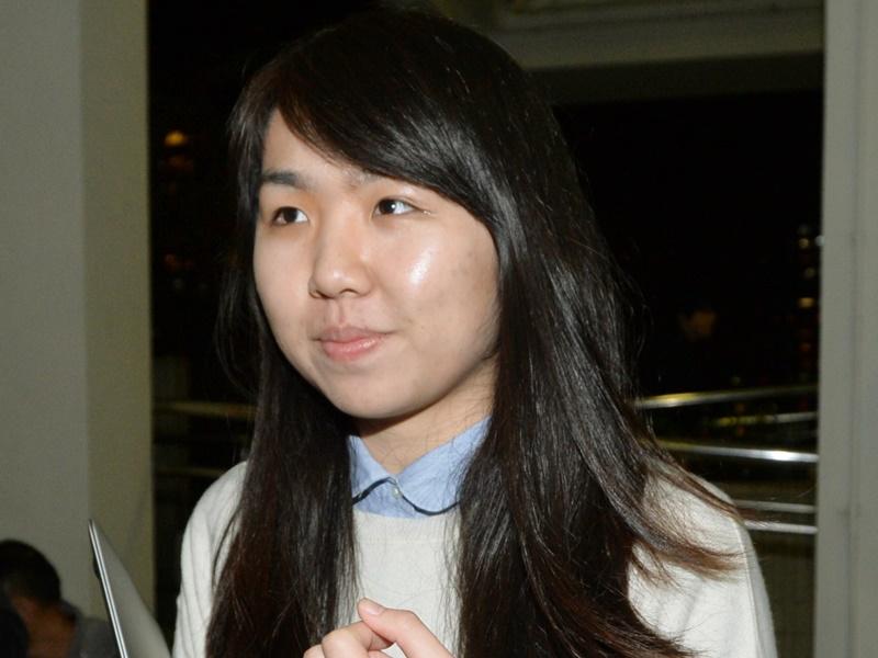 Former student leader Althea Suen.