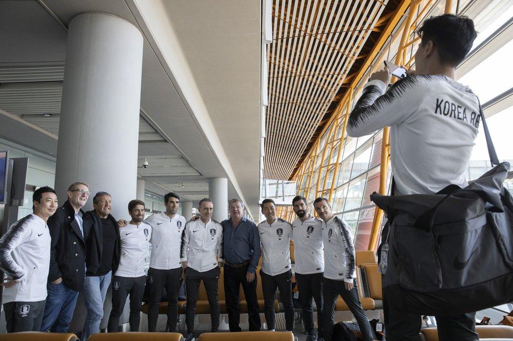 Members of the South Korean football team. (AP photo)
