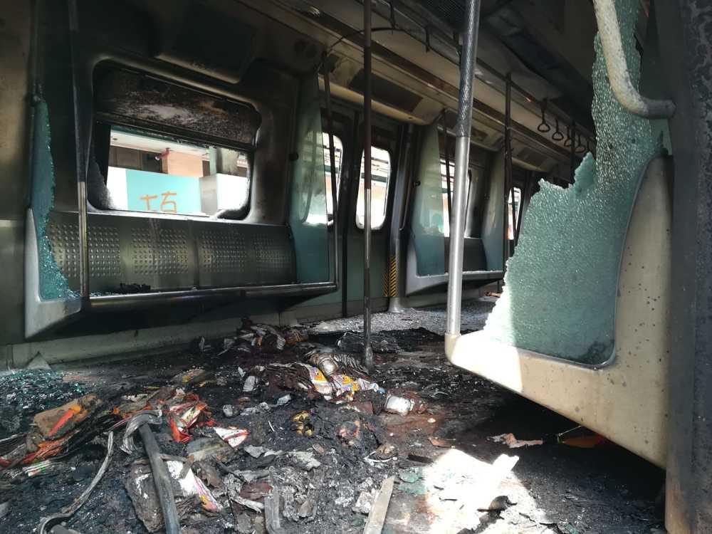 Damages at University station