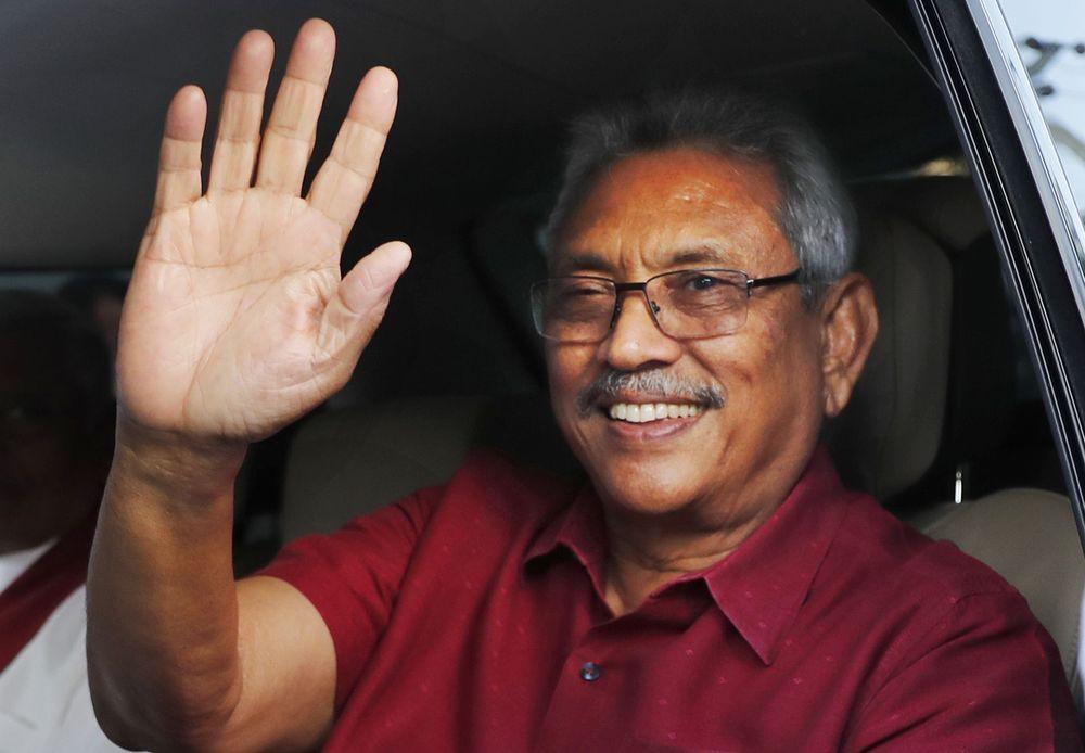 Front-runner Gotabhaya Rajapaksa won Sri Lanka's presidential elections yesterday.