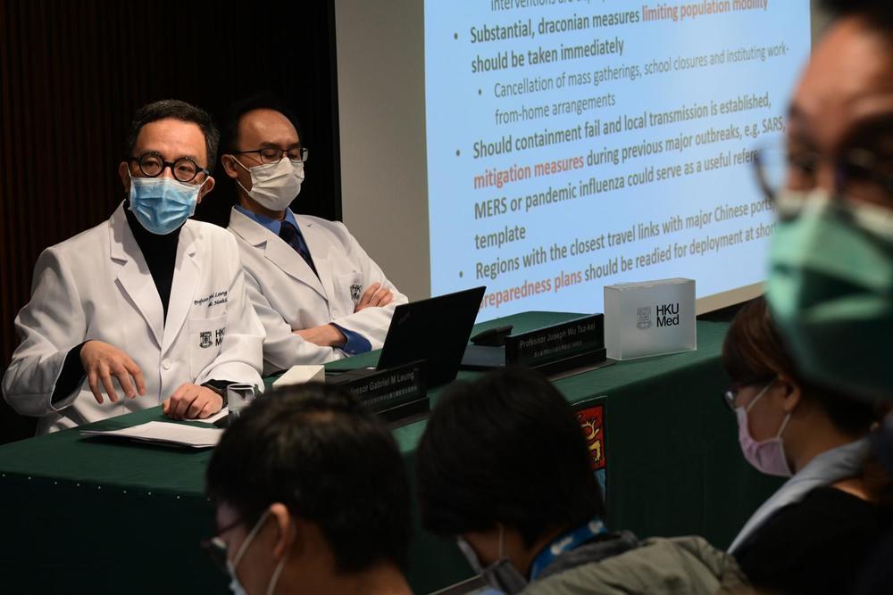 (Left) Professor Gabriel Leung, the dean of the University of Hong Kong's faculty of medicine.