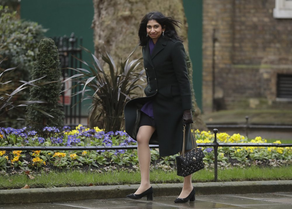 Suella Braverman becomes UK attorney general.