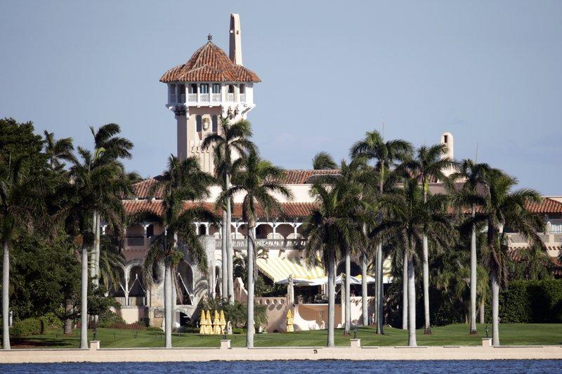 US President Donald Trump's Mar-a-Lago club in Florida,
