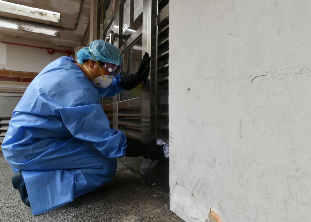 Luk Chuen House in Lek Yuen Estate, an old public housing estate in Sha Tin, has a virus cluster.