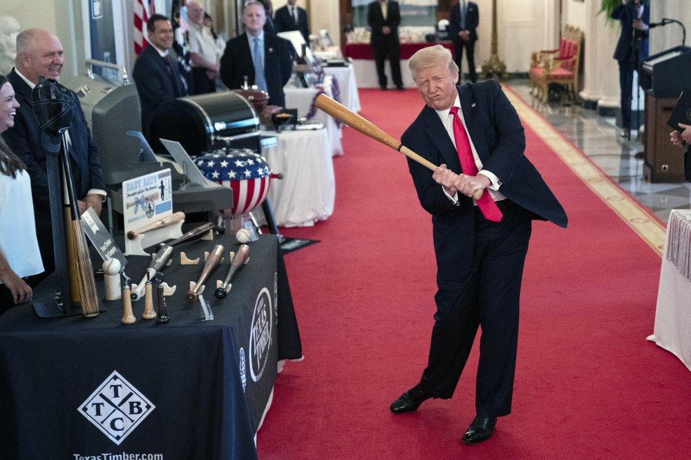 Trump delighted at biggest monthly jobs gain, Biden cautious