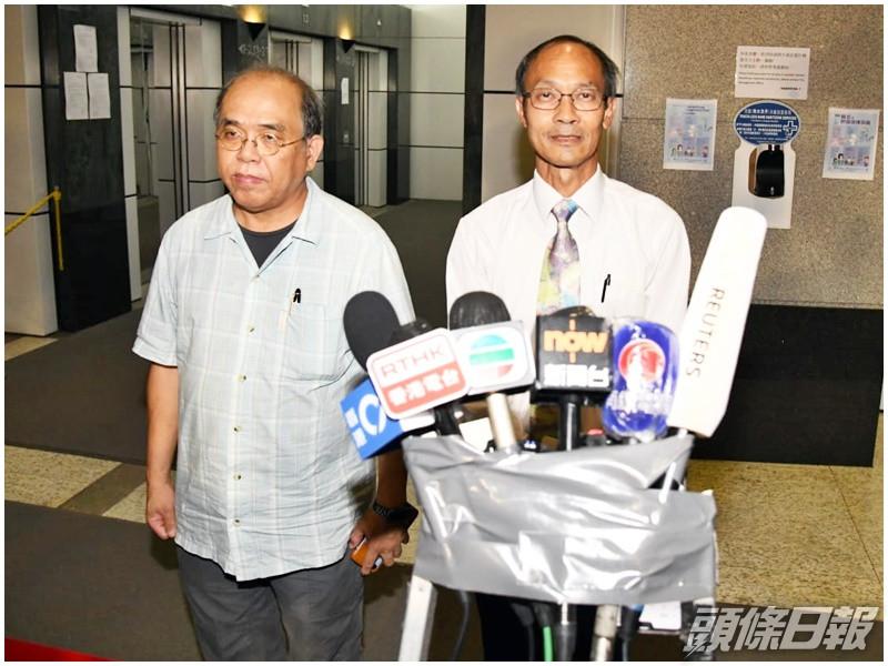 Left: Chung Kim-wah, deputy chief executive officer of PORI; Right: Robert Chung Ting-yiu, president of PORI