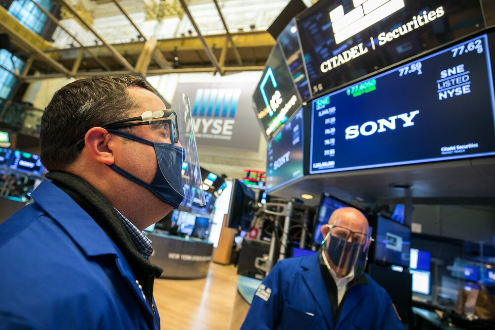 US stocks and Treasury yields weakened on Monday.