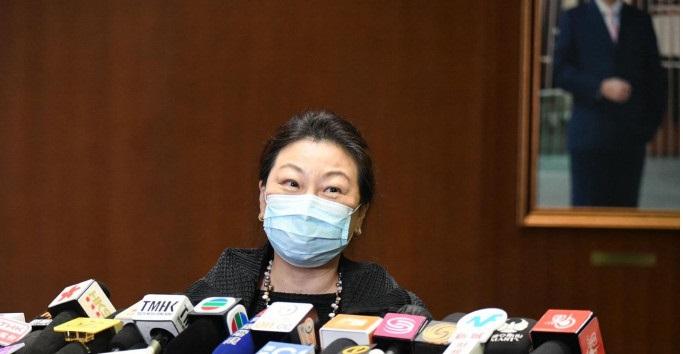 Justice Secretary Teresa Cheng.