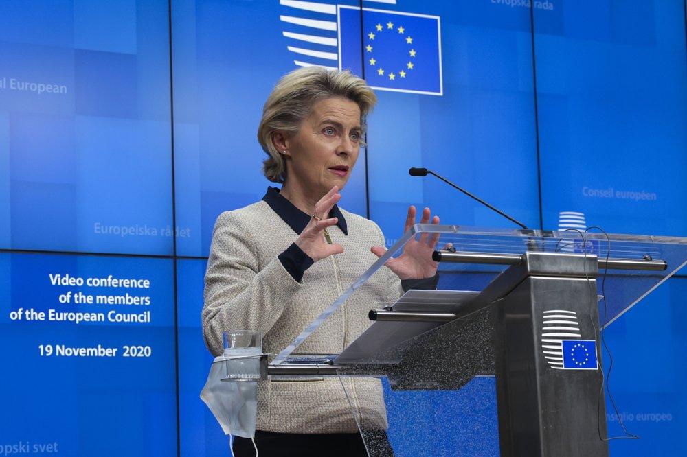 EU Commission President Ursula von der Leyen says,'we've seen in the last days better progress, more movement on important files.'
