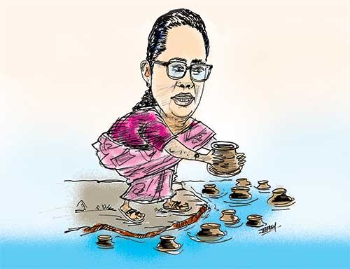 An editorial cartoon mocks Sri Lanka Health Minister Pavithra Wanniarachchi .