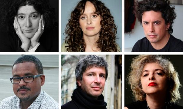 Above, from left, Maria Stepanova, Olga Ravn, Benjamín Labatut; below, from left,David Diop, Éric Vuillard, Mariana Enríquez.