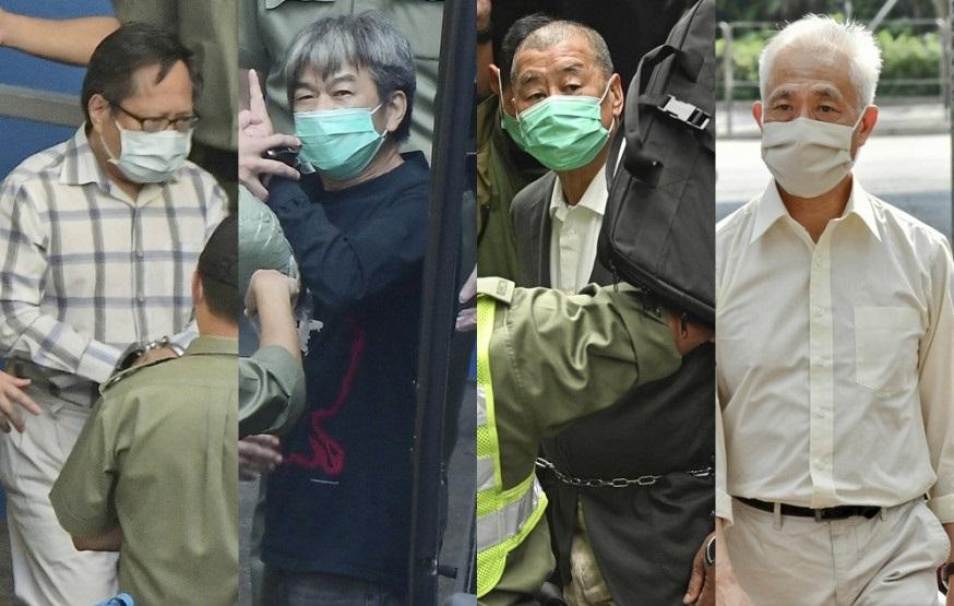 (From left to right) Ho Chun-yan,  Leung Kwok-hung, Jimmy Lai Chi-ying and Leung Yiu-chung. File photo.