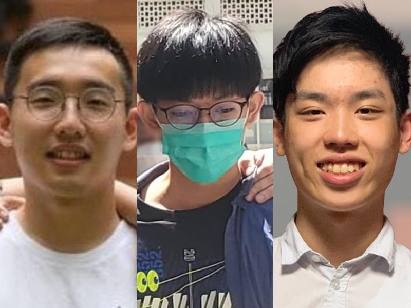 (From left to right) Charles Kwok Wing-ho, Chris Todorovski Shing-hang and Kinson Cheung King-sang. File photo.