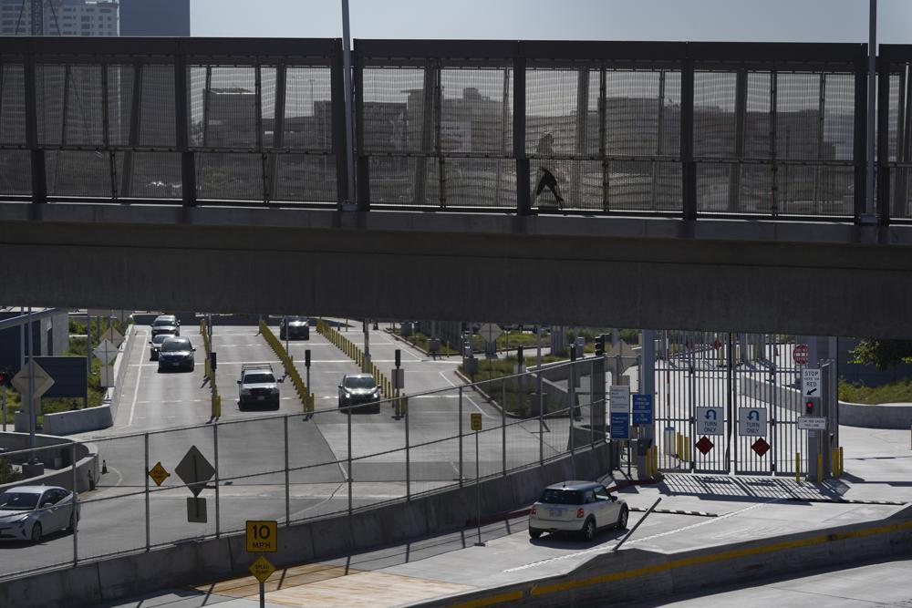A border crossing at the US-Mexican border. (AP)