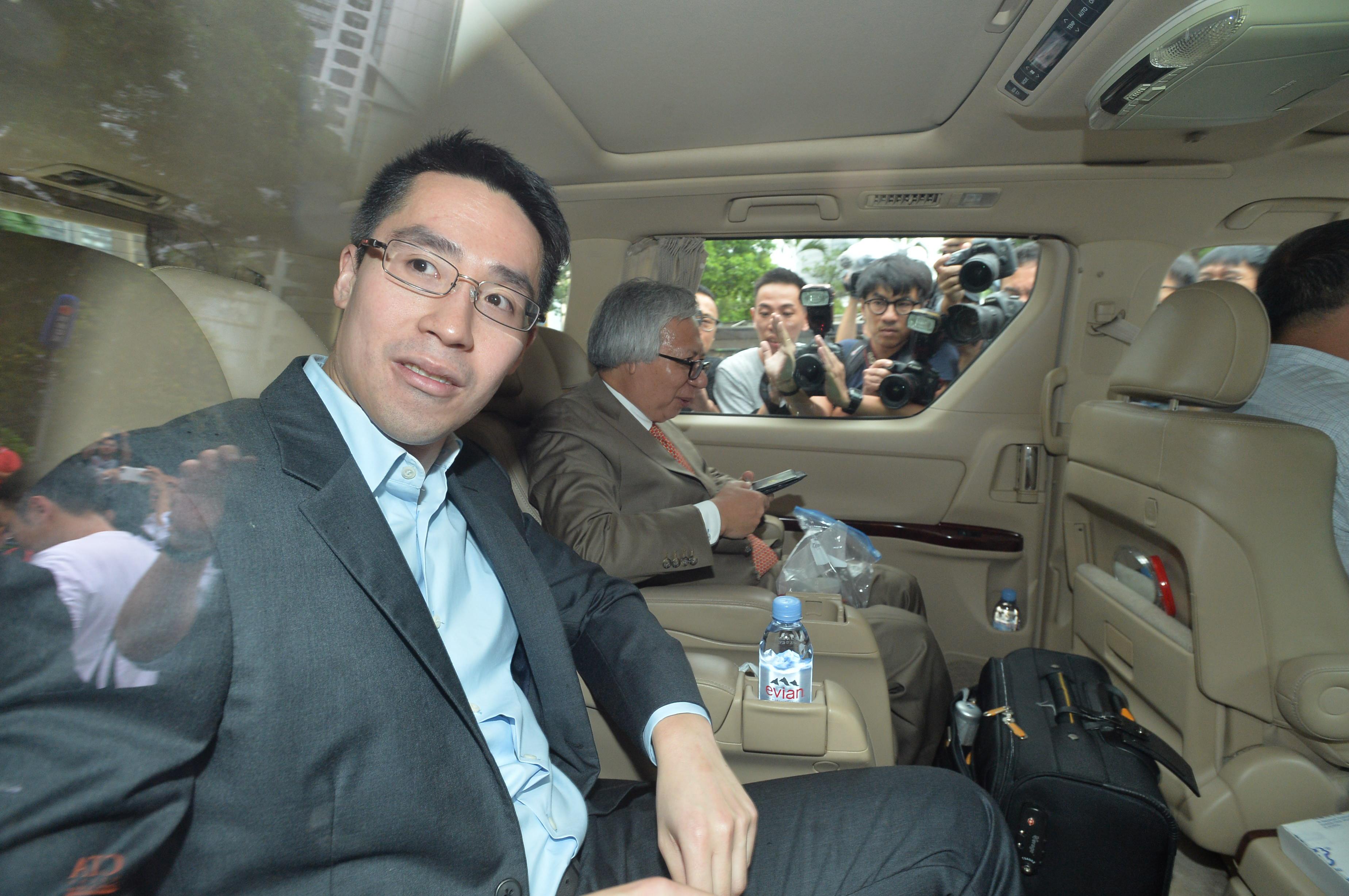 Lawmakers Ronny Tong Ka-wah, Sin Chung-kai, Chan Ka-lok