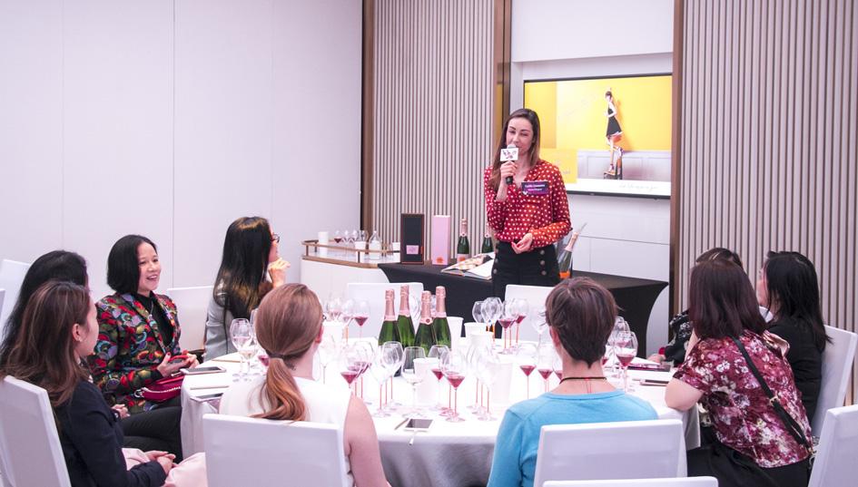 Hosing a workshop at the Hong Kong Women of Wine Festival.