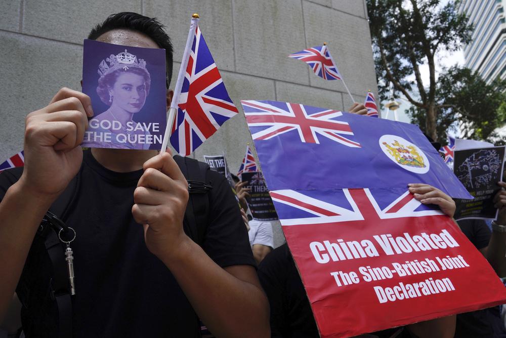 Protesters press Britain for lifeline