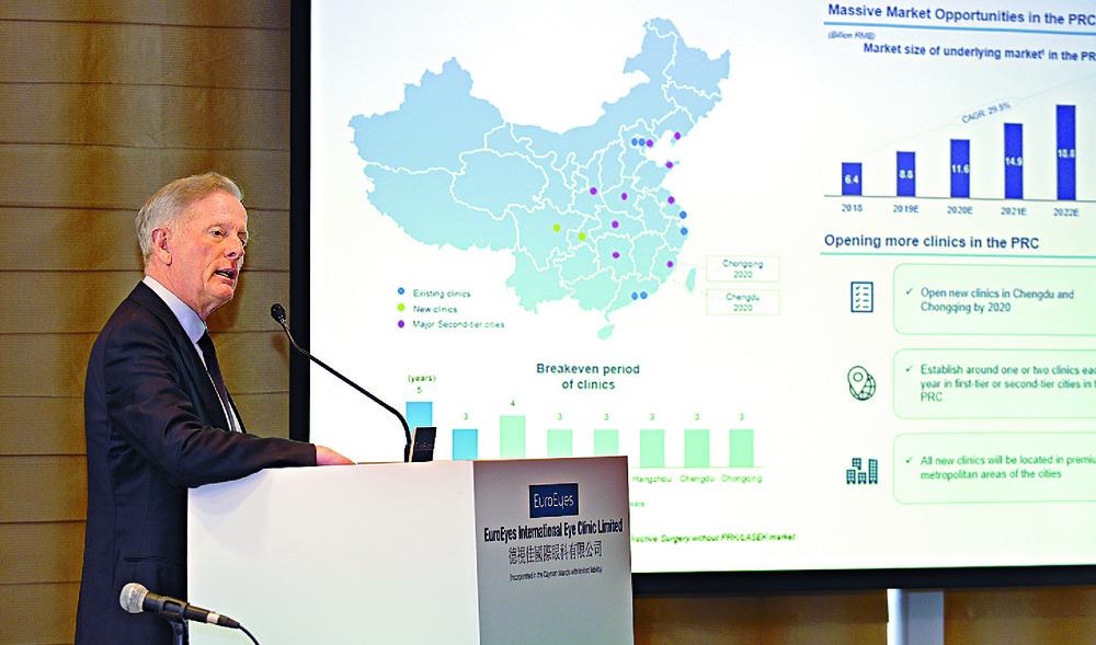 EuroEyes chairman and CEO Jorn Slot Jorgensen. SING TAO