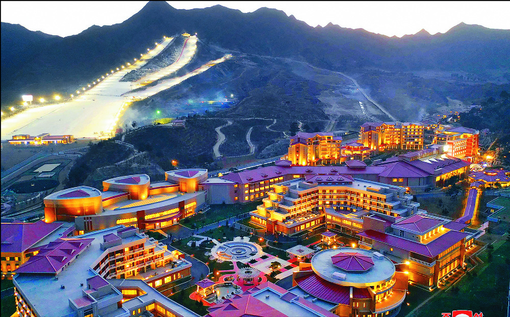 Kim Jong Un opened the Yangdok Hot Spring Cultural Recreation Center. AP
