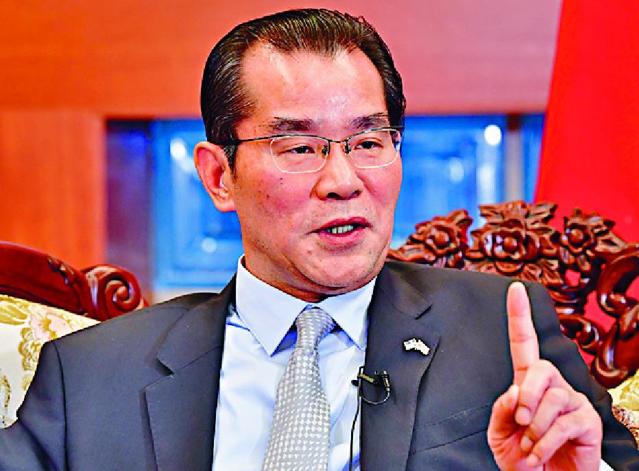 Gui Congyou's comment is an 'unacceptable threat.'  REUTERS