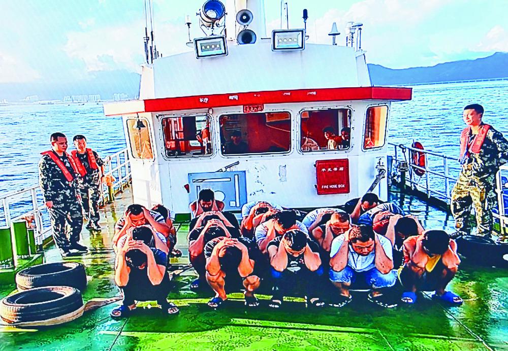Mainland and Hong Kong police conduct a joint operation to combat human smuggling.