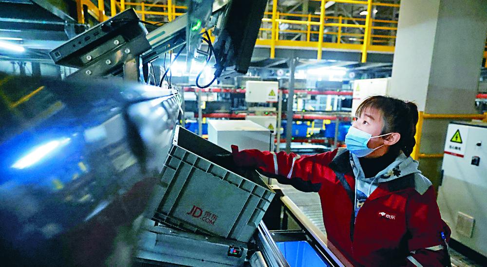 JD Logistics saw its revenues rise 47 percent last year. REUTERS