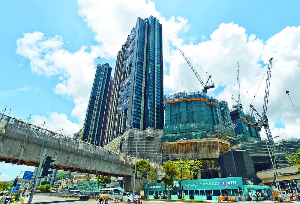The Pavilia Farm is being built atop Tai Wai Station. SING TAO