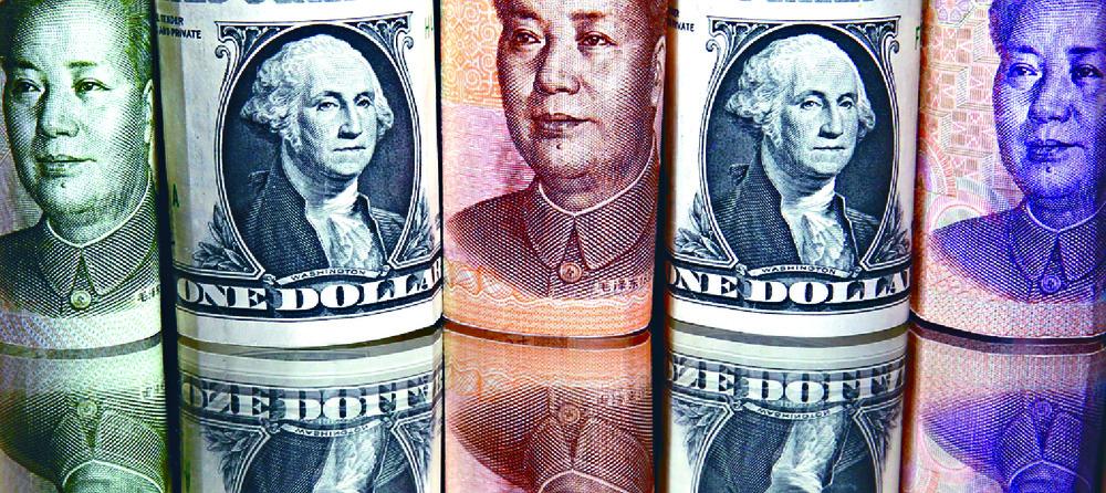 The onshore yuan weakened to 6.3872 per US dollar. REUTERS