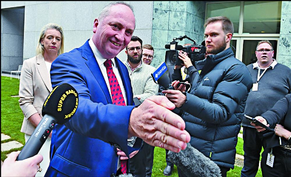 Barnaby Joyce won a snap internal party vote. AP