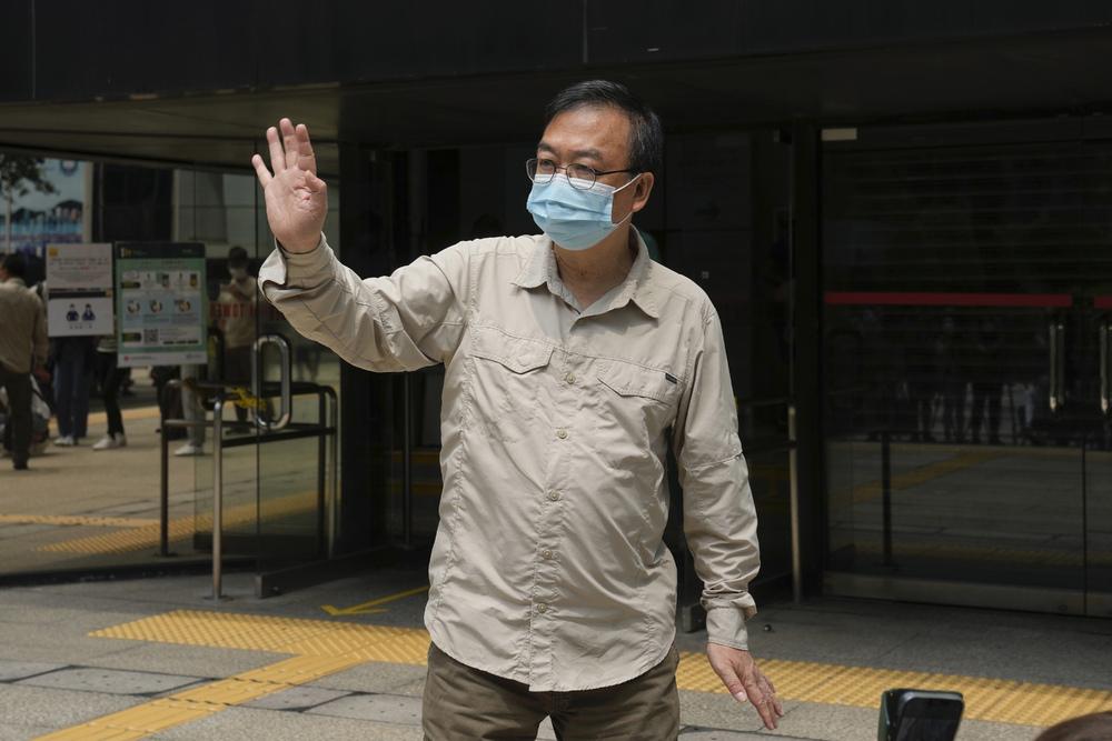 Cheung Man-kwong and Leung Kwok-wah, inset, received suspended sentences. AP, SING TAO